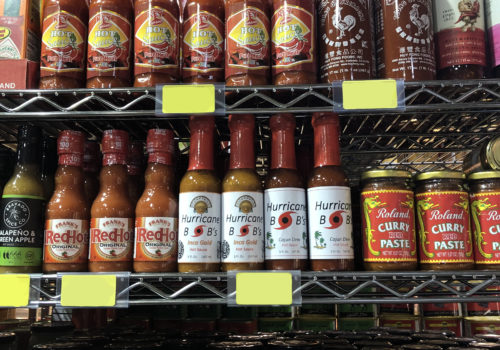 Phoenicia Foods Hot Sauce Section
